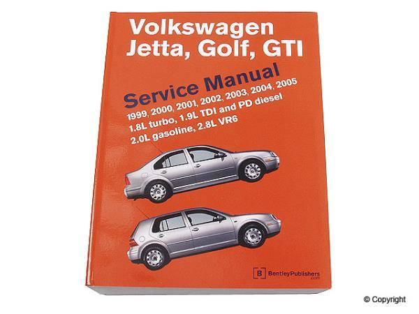 Bentley Bentley Repair Manual Paper For Mk4 Jetta  U0026 Golf