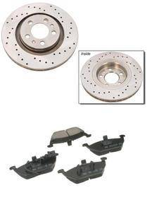 KermaTDI - Mk4 Premium+ Cross Drilled Front Brake Package for TDI and 2.0 (280x22mm vented rotor size) - Mk4FrontBrakePremiumPlus