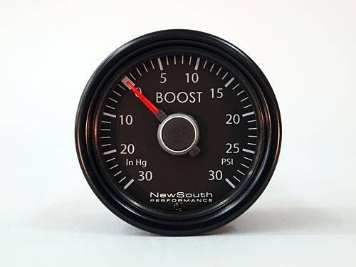 Mk5 Indigo 0-30 in hg, 0-30 PSI Boost Gauge Includes gauge, FSI NoBuzz fitting, nylon tubing, connectors, zipties