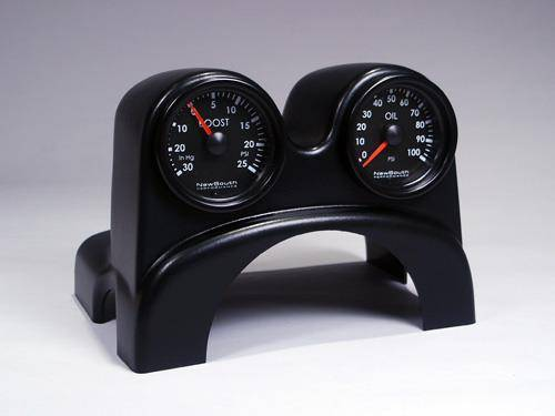 NewSouth Performance - Mk5 Dual ColumnPod (TM) with New South Indigo (0-35) Boost and EGT Gauge