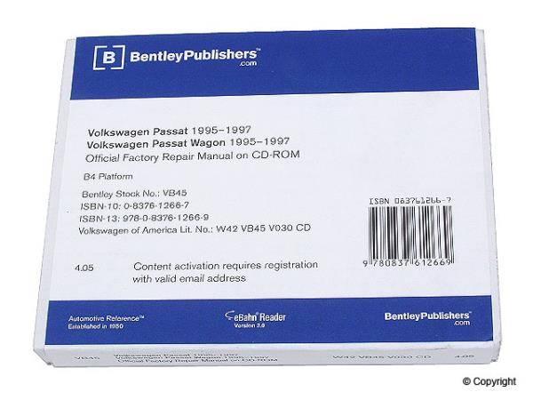 Bentley - Bentley Repair Manual DVD for Passat (B4)