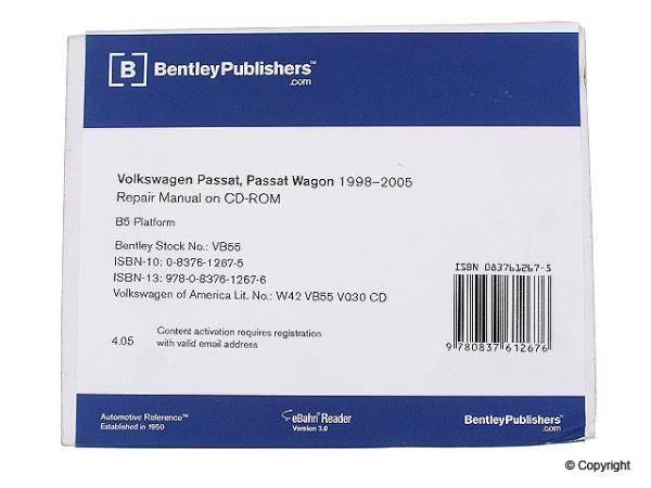 Bentley - Bentley Repair Manual DVD (B5.5 Passat)