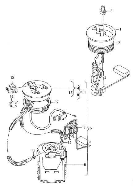 OEM VW - Fuel Level Sender (B4)