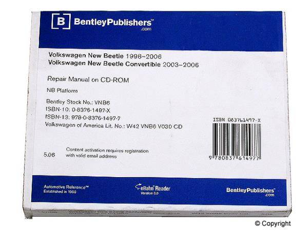 Bentley - Bentley Repair Manual DVD (Mk4 New Beetle)