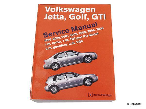 Bentley - Bentley Repair Manual Paper for Mk4 Jetta & Golf
