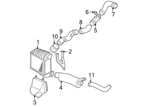 OEM VW - Lower Intercooler Pancake Pipe (98-99 New Beetle)