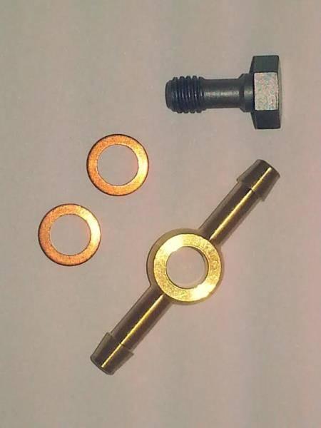 OEM VW - #3 Injector Banjo Fitting, banjo bolt, and 2 washers (VE)
