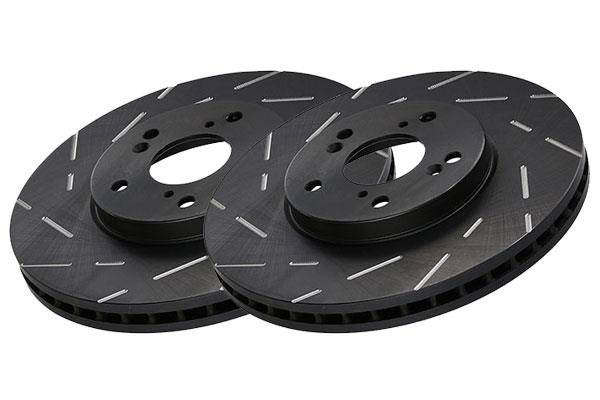 EBC Brakes - EBC Breaks- Rear Slotted Rotors
