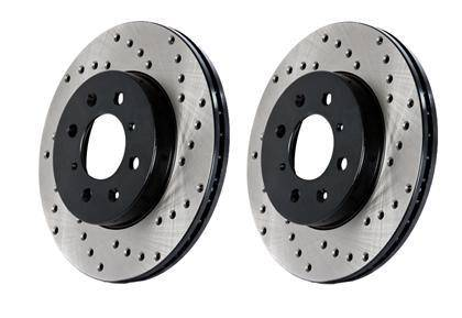 Stop Tech - StopTech Cryo-SportStop Drilled Rotors (Rear Pair) (Mk4)