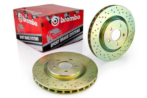 Brembo - Brembo Rotors Sport kit, Set of 2, Front, Drilled, (B5.5) 288mm