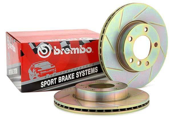 Brembo Rear Brake Kit Low-Met Pads Disc Rotors 5 Lugs For Audi A4 Quattro 05-09