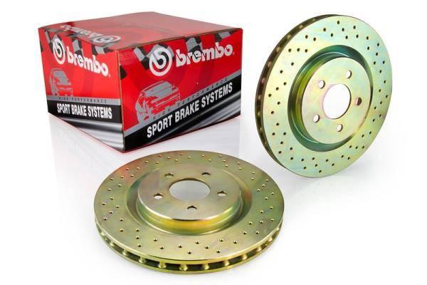 Brembo - Brembo Rotors Sport Kit - Set of 2 Rear, Drilled. (Mk5) 260mm