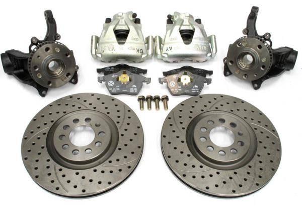 Front Brake Upgrade Kit for Mk4 TDI cars.