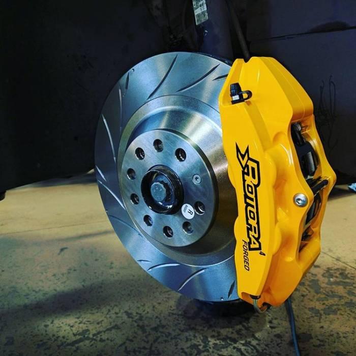 Rotora - Rotora Complete 4 piston Brake System. (328mm Rotors) Mk5-Mk7 VW & Audi A3