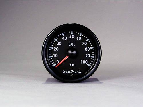 NewSouth Performance - Indigo 100 PSI Oil Pressure Gauge