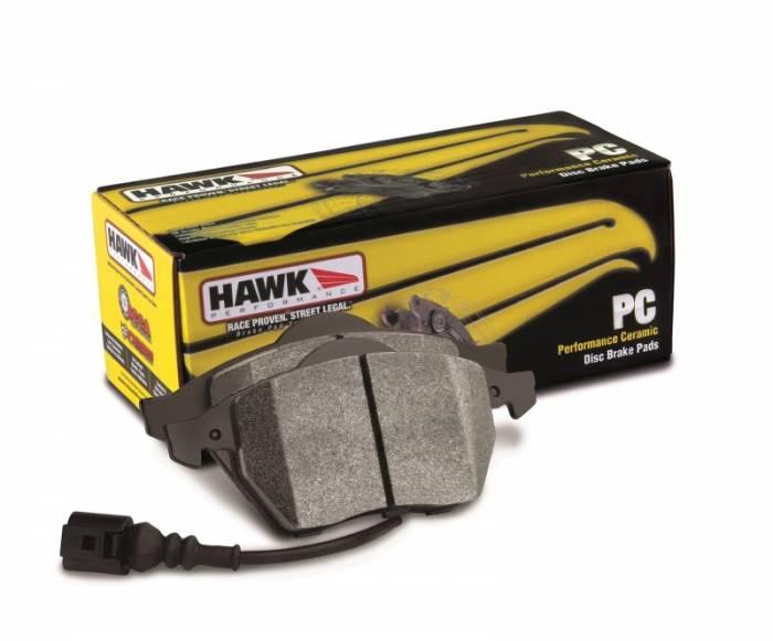Rear HAWK Ceramic Brake Pad Set for 328d and 328d x-drive