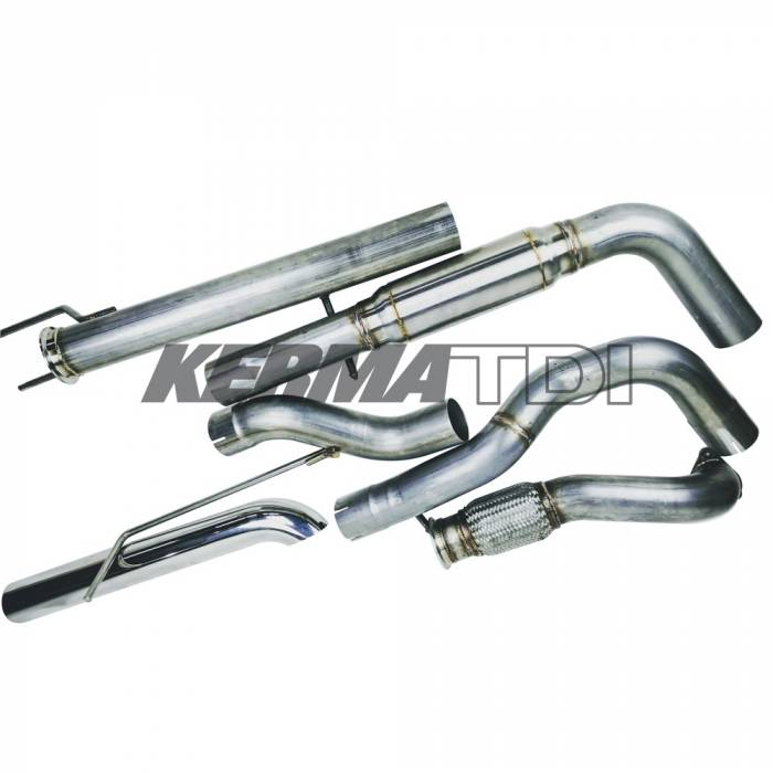 KermaTDI - 3 inch TDI Stainless Turbo-back Exhaust System MK4 v.2 (Complete System)