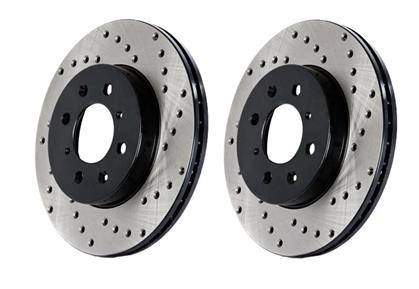 Stop Tech - Cross Drilled Front rotors (Mk4)- 280mm