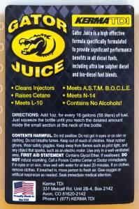 KermaTDI - Gator Juice Diesel Additive 16 oz. - Image 2